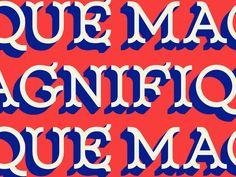 New Font! Magnifique Display by Drew Melton