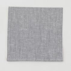 Image of Napkin: Grey Thin White Stripe