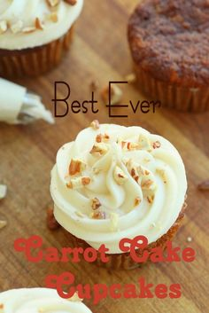 If you like carrot cake you're going to love these Best Ever Carrot Cake Cupcakes! Paula from Half Baked has done her homework and after searching for literally the BEST carrot cake cupcake recipe out there, she came up with a Food food Best Carrot Cake Cupcake Recipe, Carrot Cake Cupcakes, Cupcake Recipes, Baking Recipes, Cupcake Cakes, Dessert Recipes, Carrot Cake Muffins, Carrot Cakes, Baking Ideas