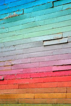 Rainbow Wall #colorstory