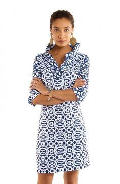 99dfd59f40a Gretchen Scott Ruff Neck Jersey Dress - Rio Gio - Blues