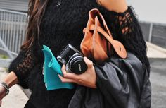 I have an obsession with girls carrying nice camera's