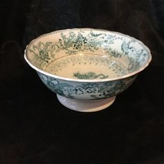 A stunning late Georgian early Victorian, French  pottery bowl