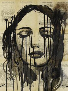 "Saatchi Online Artist: Sara Riches; Ink 2013 Drawing ""These Tears are my Prison"" #art"