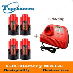 4PCS New M12 M18 12V 1500mAh 48-11-2401 Lithium Ion 18Wh Cordless battery for Milwaukee 48-59-1812,2510-20, 48-59-2401+charger