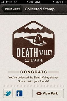 NEW on on the National Geographic app (by Rally Interactive)! National Park Stamp Icons (by Valerie Jar) add style to the http://pinterest.com/pin/create/button/?media=http://www.designworklife.com/wp-content/uploads/2012/05/valeriejar_natlparkstampes_06.jpg=http://www.designworklife.com/2012/05/08/valerie-jar-national-park-stamp-icons/#interactive guide to U.S. national parks.