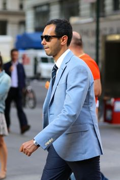 Great mix of blues. #mensfashion