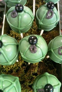 12 Army Grenade Cake Pop Birthday Favors Welcome Home Army Military Troops Gift Camo Party Mens Gift. $24.00, via Etsy.