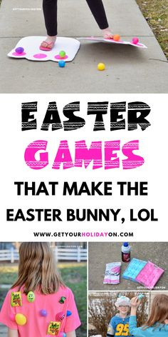 These Easter Games were created with one fuzzy furry pink rabbit in mind! Also, find bunny footprints that look so cute you want to tickle them, lol? Easter Games that makes the Easter Bunny laugh! Funny Easter Eggs, Easter Peeps, Hoppy Easter, Easter Bunny, Easter Snacks, Easter Stuff, Easter Recipes, Easter Party Games, Easter Games For Kids