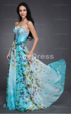 2013 prom dresses onsale at www.joydress.co.uk  Flower Prints A-line Sweetheart Floor-length Dress   £70.00