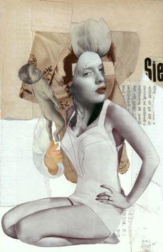 """Saatchi Online Artist: Kerstin Stephan; Paper, Assemblage / Collage """"She"""""""