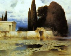 welovepaintings: Ferdinand Keller - A Classical Landscape Oil on canvas 81 x 101 Traditional Landscape, Traditional Paintings, Ferdinand, Grand Tour, Love Painting, Dark Art, Landscape Paintings, Landscapes, Oil Paintings