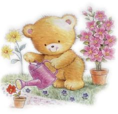 Bear Cartoon, Tatty Teddy, Cute Teddy Bears, Bird Cards, Cute Baby Animals, Cute Pictures, Cute Babies, Creatures, Clip Art
