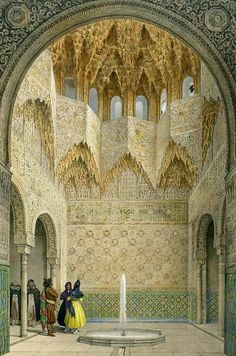 oriental painting of the alhambra