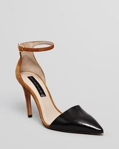 STEVEN BY STEVE MADDEN Pointed Toe Pumps - Anibell 2 Tone High Heel