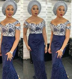 If there's one thing we can't get enough of its Nigerian fashionistas nailing their own personal style in timeless Aso-Ebi styles. Each week we bring you our Aso-Ebi style pick… African Attire, African Wear, African Lace, African Style, African Bridal Dress, Nigerian Dress Styles, Nigerian Lace, Africa Dress, Wedding Guest Looks