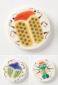 Beetle Trivets via Unruly Things