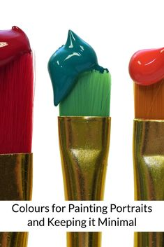 Colours for Painting Portraits and Keeping it Minimal https://artplace.ca/paints-mixes-for-painting-portraits/