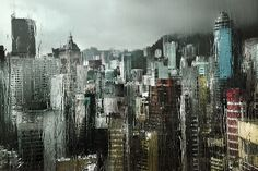 Cities In The Rain by Christophe Jacrot