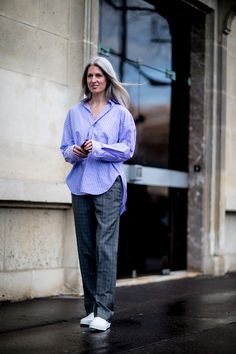 Paris Fashion Week Street Style Fall 2018 Day 6 - The Impression