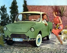 1950s DAF Coupe - former Dutch Manufactured Vehicles / Advertising Photograph