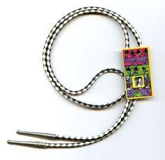 Vtg 1980s Boom Boom Wiz Tribal Rhinos Artist Cartoon Leather Bolo Tie Necklace | eBay Vintage Gifts, Vintage Men, Vintage Shops, Vintage Designs, Vintage Items, Old Jewelry, Antique Jewelry, Vintage Jewelry, Fine Jewelry