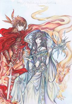 Siris and Ta'rin by `Hellobaby on deviantART