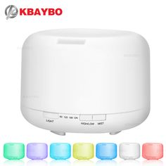 500ML Aromatherapy Essential Oil Diffuser Ultrasonic Air Humidifier with 4 Timer Settings 7 LED Color Changing Lamps, 10 Hours #Affiliate