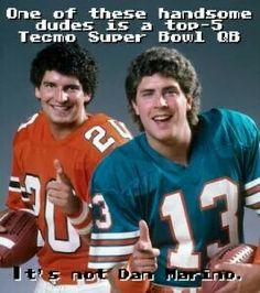 Bernie Kosar and Dan Marino