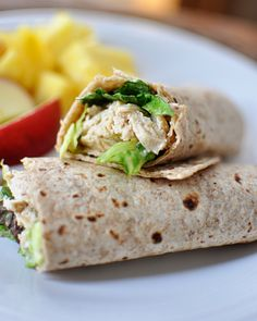 Chicken Caesar Salad Wraps- I want to try doing lettuce wraps: chopped chicken Caesar dressing bits of croutons wrapped in lettuce