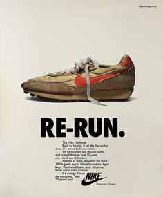 188042f43bd Advertising for the Nike Vintage Campaign was designed
