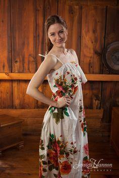 Summer Dress made From D10 Fabric Pattern
