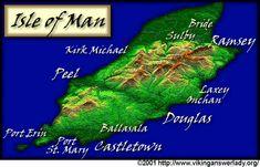 Map of Viking Isle of Man
