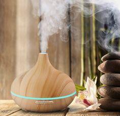 Aroma Essential Oil 300ml Cool Mist Humidifier Diffuser Wood Grain Ultrasonic | Home & Garden, Home Décor, Home Fragrances | eBay!