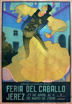 Poster of the 2008 Feria del Caballo in Jerez