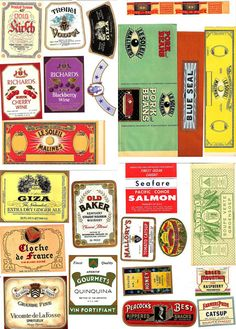 vintage tin can labels.  What a cool way to upcycle a simple can!