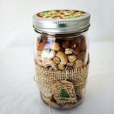 Make your own nut mix, trail mix, or fancy flavored nuts like these roasted maple cinnamon almonds, or include instructions on how to make their own homemade mixed nut butter.
