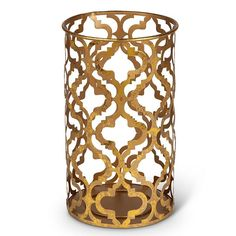 Small Gold Finish Candle Holder