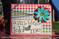A fun card that uses embroidery floss.