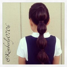 Chic perfect looking bubble ponytail done by kimberly0706.