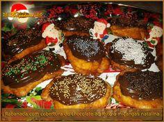 Rabanadas com cobertura. Sabor do chocolate garantidos em suas festas de fim de ano!