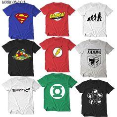 5ae1720e47b The Big Bang Theory T-shirt Sheldon Cooper super hero green lantern the  flash cosplay