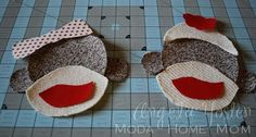 tute and template for iron on sock monkey applique