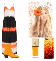 """Autumn Leaves"" by mothflightmedcat ❤ liked on Polyvore featuring Dorateymur, Casetify and Yves Saint Laurent"