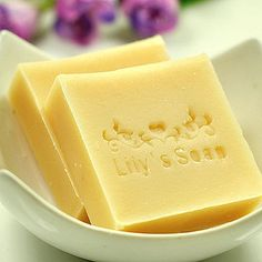 $9 Essential oil handmade soap. Love the personalised stamp