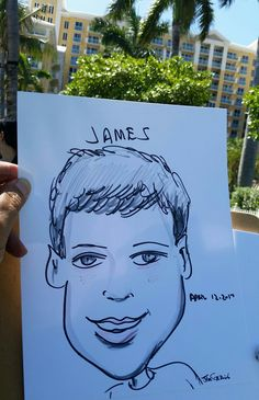 Photo taken during Children's Party Entertainment at Key Biscayne, Miami Florida area luxury hotel featuring 2 hours of Caricatures by Fort Lauderdale Caricature Artist Jeff Sterling, owner and Chief Artist at  www.FloridaCaricatures.Com  Professional Caricaturist available for Private and Corporate Entertainment in Southeast Florida between Miami and West Palm Beach. Info 305-831-2199