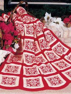 Crochet christmas afghan patterns free knitting 54 new ideas Christmas Crochet Blanket, Christmas Afghan, Christmas Knitting Patterns, Holiday Crochet, Christmas Stars, Christmas Christmas, Xmas, Crochet Crafts, Yarn Crafts