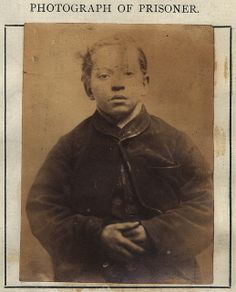Fifteen-year-old Richard Rimmington was convicted of stealing a pipe from a shop and was expected to serve 14 days with hard labor. He was spared his sentence when his parents agreed to pay costs and the resulting fine. Mug Shots Of Criminals In The Old Pictures, Old Photos, Vintage Photographs, Vintage Photos, Criminal Shows, Poor Children, British History, Mug Shots, Victorian Era