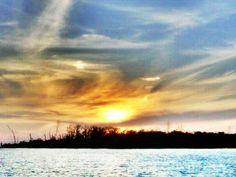 Sunset on the back bays, Estero, FL