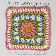 Life Made Creations: a slew of grannies! Multi Stitch Granny Square  by Dayna Audirsch. Pattern available here: http://www.ravelry.com/patterns/library/multi-stitch-granny-square